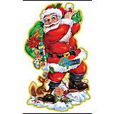 """Наклейка """"Дед Мороз с подарками"""", 3D, 66*40см"""