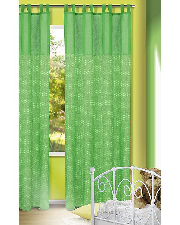 vorhang punkte gr n 245x135 1 schal mytoys. Black Bedroom Furniture Sets. Home Design Ideas
