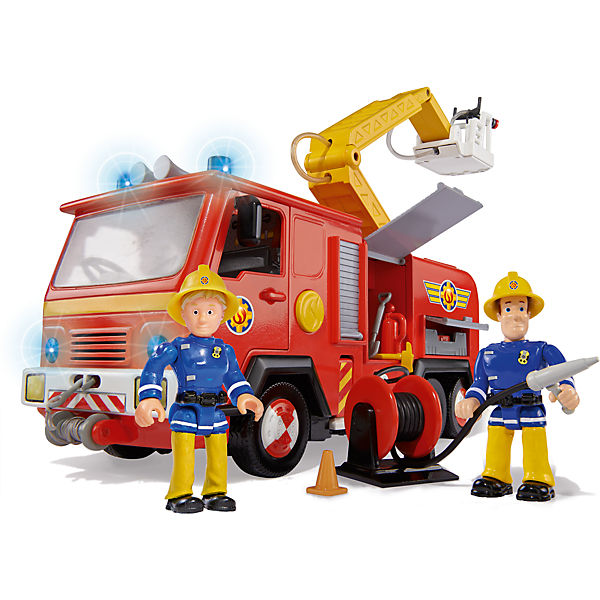 feuerwehrmann sam feuerwehrwagen deluxe jupiter mit 2 figuren feuerwehrmann sam mytoys. Black Bedroom Furniture Sets. Home Design Ideas