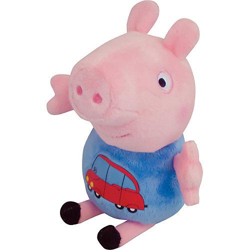 "Мягкая ирушка ""Джордж с машинкой"", 18 см, Свинка Пеппа от Росмэн"