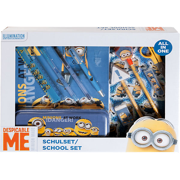 Schulset All-in One Minions, 14-tlg.