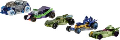 Hot Wheels DC Comics Batman & die Schurken Character Car 5er-Pack