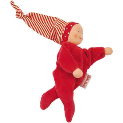 Colour Kids Nickibaby Rot Stoffpuppe, 20 cm
