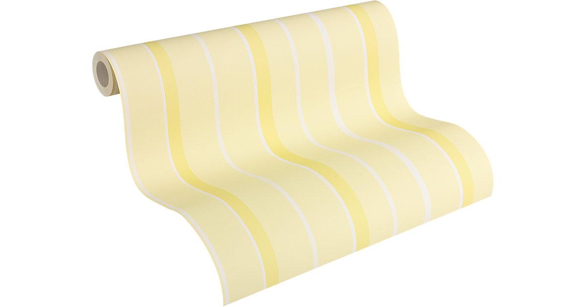 Tapete Streifen gelb, 10 m x 53 cm