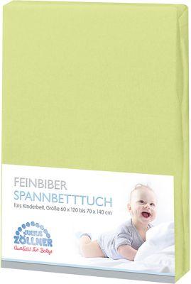Spannbettlaken Spannlaken grün 40X90 cm Bettlaken Zöllner Babyspannlaken