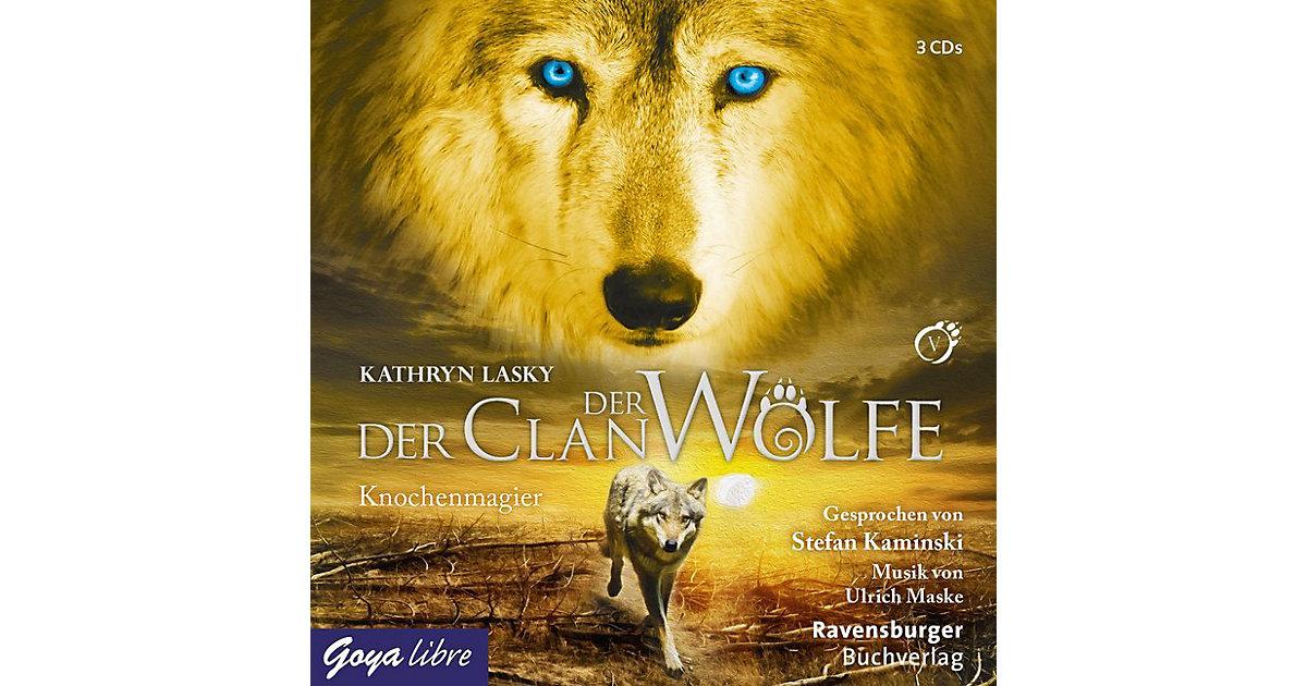 Der Clan der Wölfe: Knochenmagier, 3 Audio-CDs Hörbuch