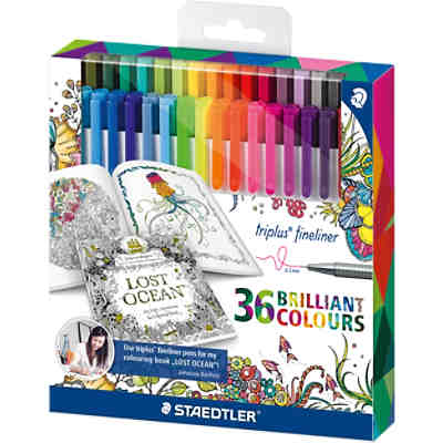 "Fineliner triplus color Sonderedition""Johanna Basford"", 36 Farben"