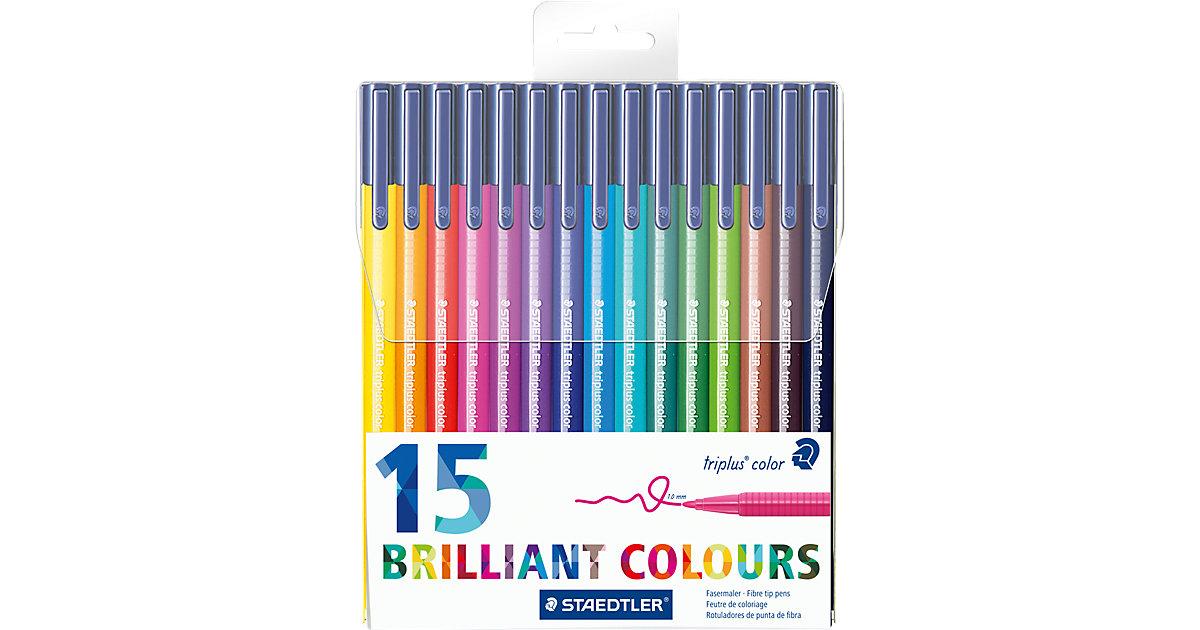 Filzstifter triplus color DRY SAFE, 15 Farben