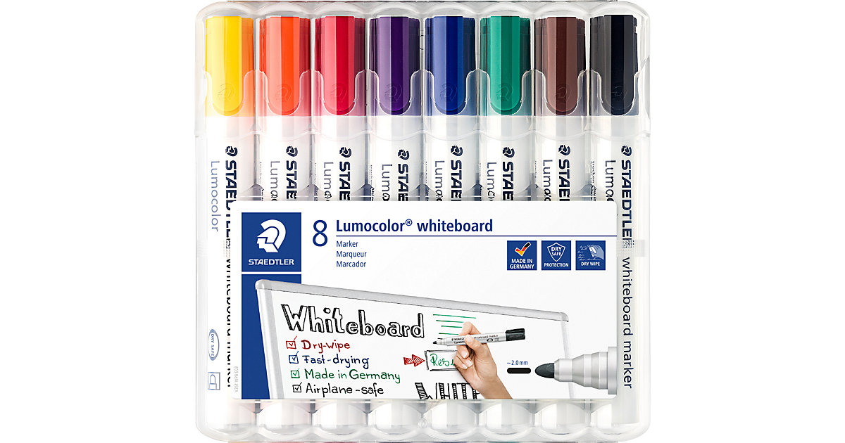 Lumocolor Whiteboard Marker 2 mm, 8 Farben