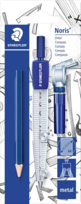 Циркуль Noris Club 550, max d = 30 см, адаптер, карандаш, грифели, Staedtler
