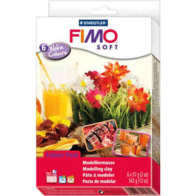 FIMO soft Materialpackung Warm Colours, 6 x 57 g