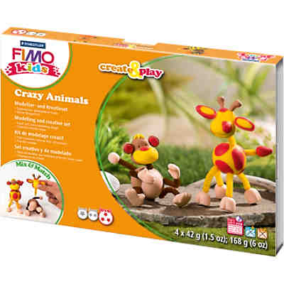 FIMO kids Create & Play Crazy Animals Affe & Giraffe