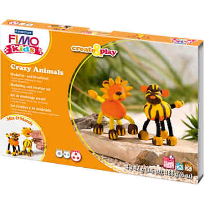 FIMO kids Create & Play Crazy Animals Löwe & Tiger