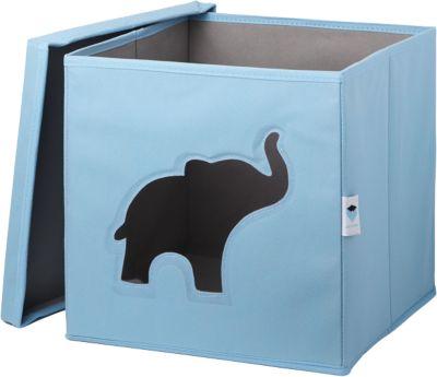 Aufbewahrungsbox Mit Sichtfenster Elefant, Blau