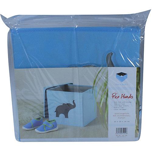 Коробка с крышкой для хранения Store it Слон - голубой от STORE IT!