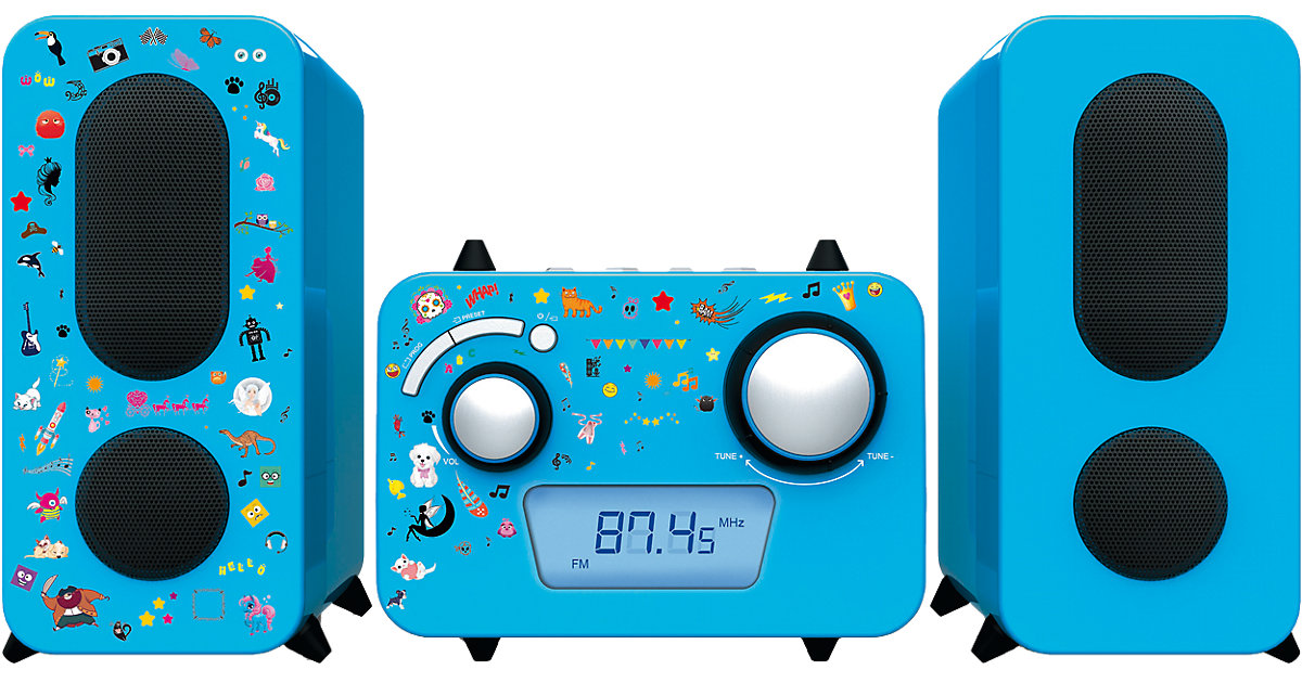 Stereo Music Center MCD11 Kinder, blau Kinder