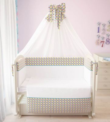 Комплект в кроватку 7 предметов Фея, Конфетти
