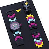 """Часы наручные аналоговые с минифигурой """"Lucy"""" на ремешке, LEGO"""