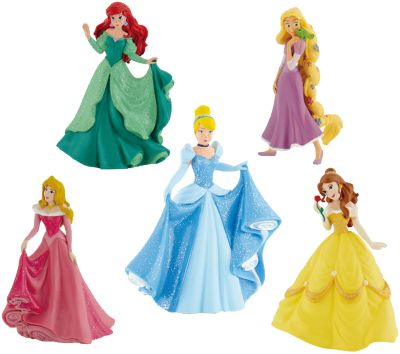 BULLYLAND Comicwelt - Prinzessinnen Deluxe Set 5 Figuren