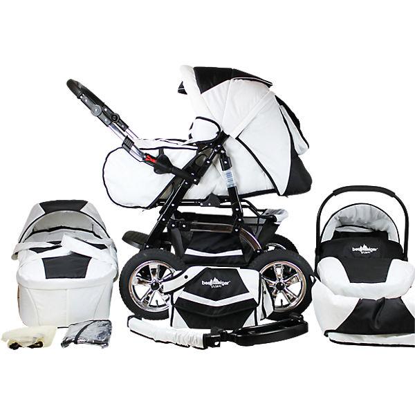 Kombi Kinderwagen Milano 10 Tlg Black White Bergsteiger Mytoys
