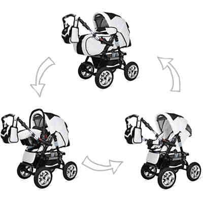 Kombi Kinderwagen Capri 10 Tlg Black White Bergsteiger Mytoys