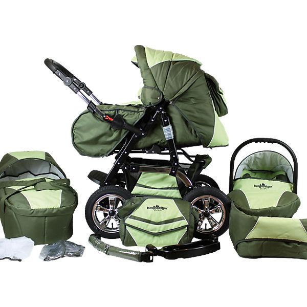 Kombi Kinderwagen Milano 10 Tlg Dark Green Bergsteiger Mytoys
