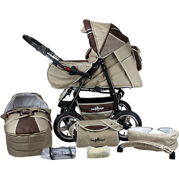 Kombi Kinderwagen Rio, 10 tlg., coffee & brown
