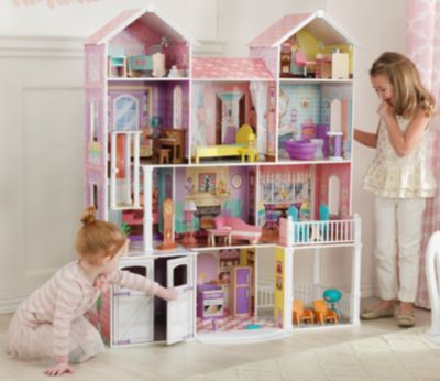 Puppenstuben & -häuser Kidkraft Country Estate Puppenhaus Große Hölzerne Puppe Mansion für Barbie