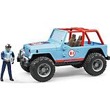 Машинка Bruder Внедорожник с гонщиком Cross Country Racer, синий