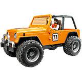 Машинка Bruder Внедорожник с гонщиком Cross Country Racer, оранжевый