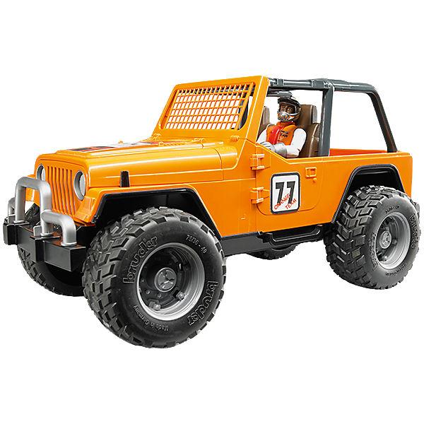 Jeep Cross Country Racer Orange mit Rennfahrer 1:16, Bruder