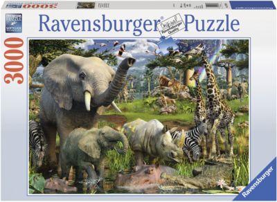 Puzzle Tiere an der Wasserstelle 3000 Teile