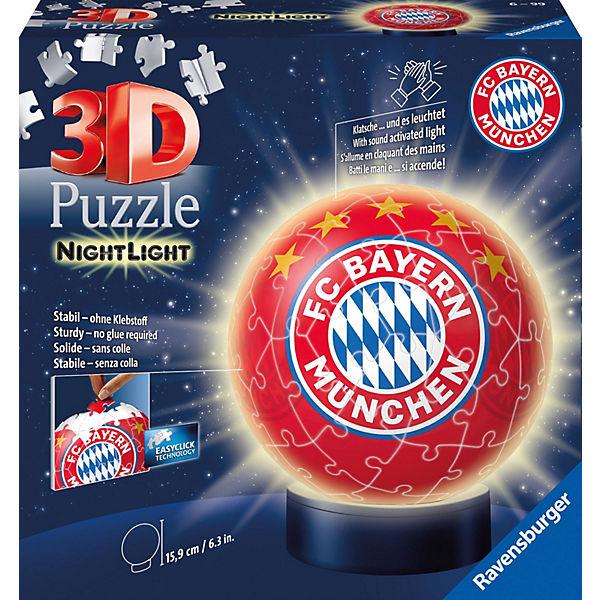 Puzzleball 174 Nachtlicht Fc Bayern M 252 Nchen 72 Teile Puzzleball 174 Mytoys