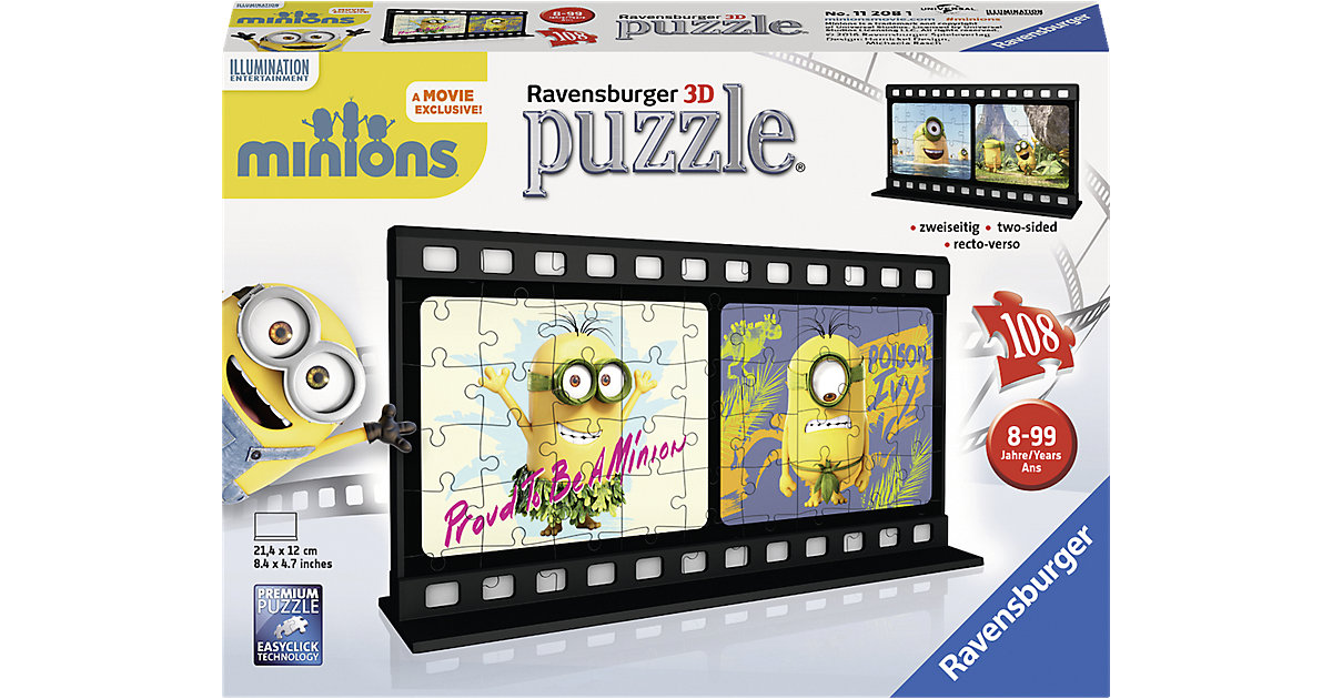 3D Puzzle Filmstreifen Minions Natural 108 Teile