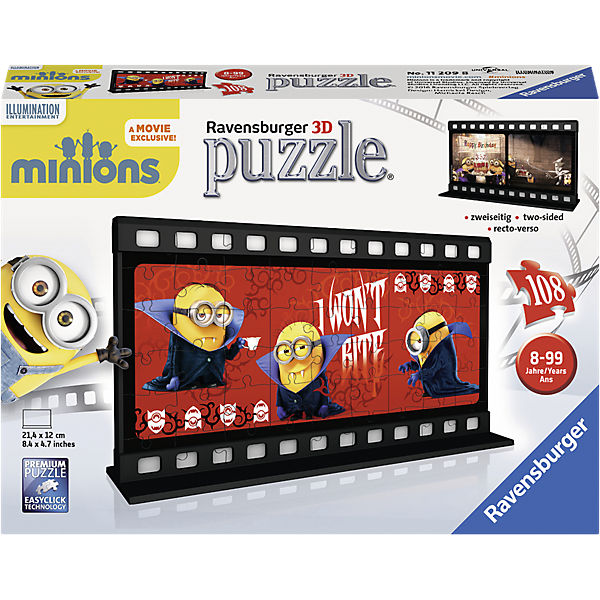 3D Filmstreifen Puzzle Minion Gone Batty 108 Teile