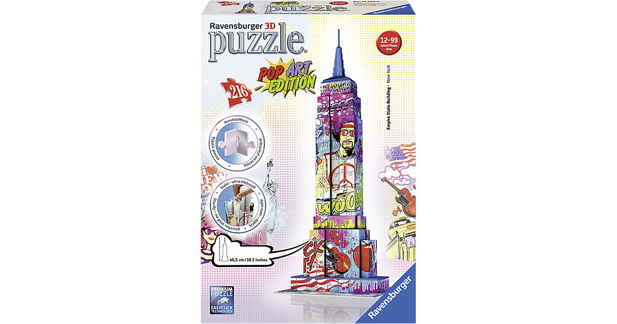 3D Puzzle-Bauwerke Empire State Building Pop Ar...