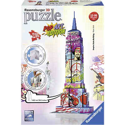 3D Puzzle-Bauwerke Empire State Building Pop Art 216 Teile