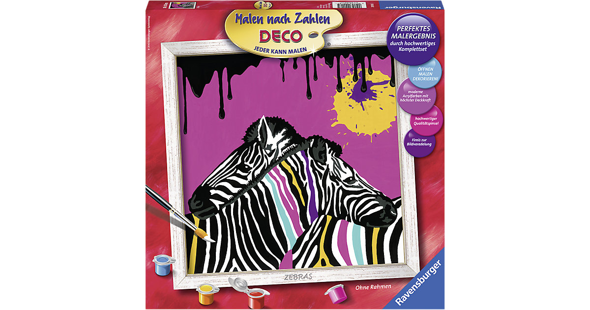 Malen nach Zahlen Zebras