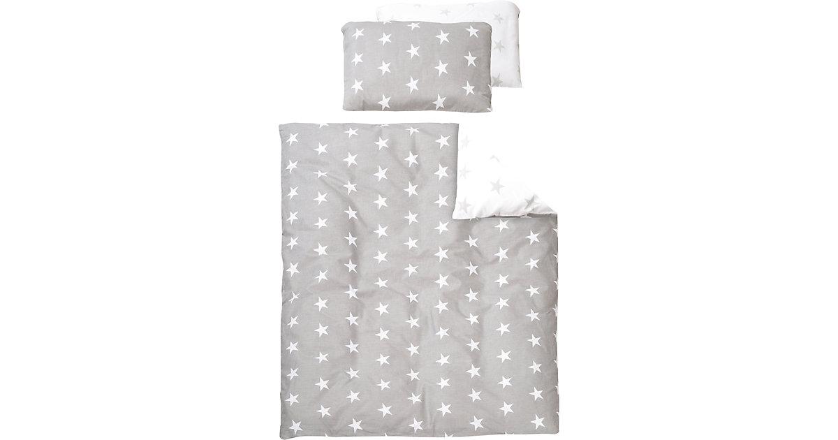 Kinderbettwäsche Little Star, Baumwolle, grau, 100 x 135 cm | Kinderzimmer > Textilien für Kinder > Kinderbettwäsche | Roba