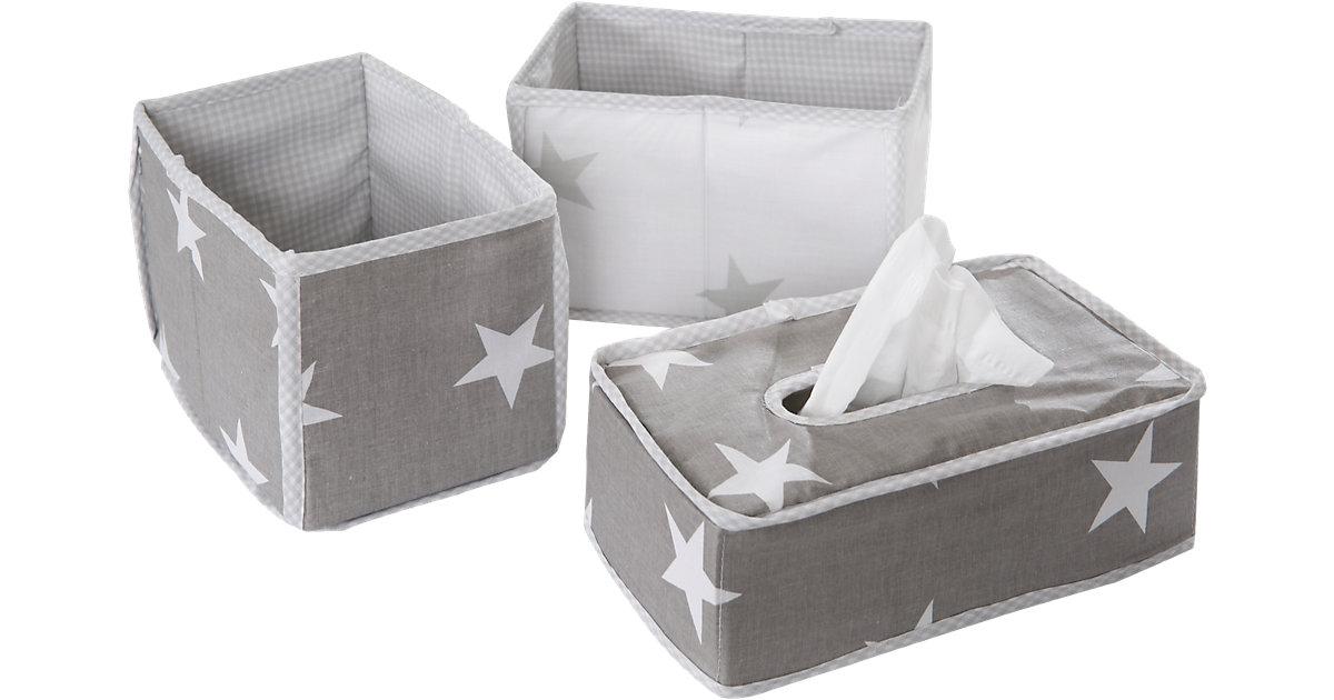roba · Aufbewahrungsboxen Little Star, grau, 3tlg.