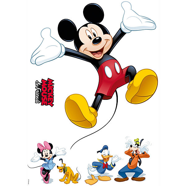 Wandsticker Mickey And Friends 50 X 70 Cm
