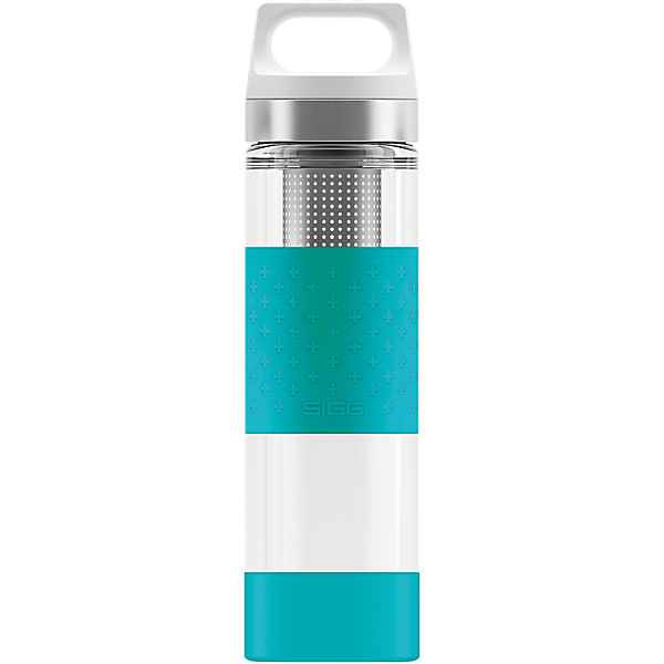 SIGG Trinkflasche Hot & Cold Glass WMB Aqua, 0,4 l