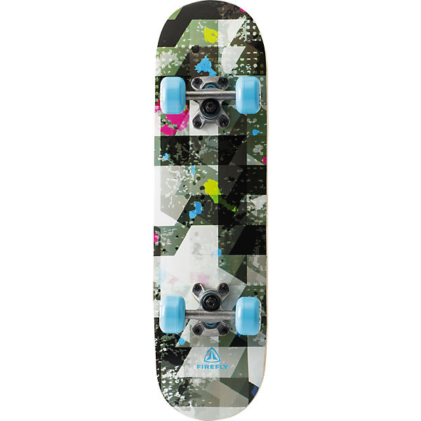 Skateboard Abstract, schwarz