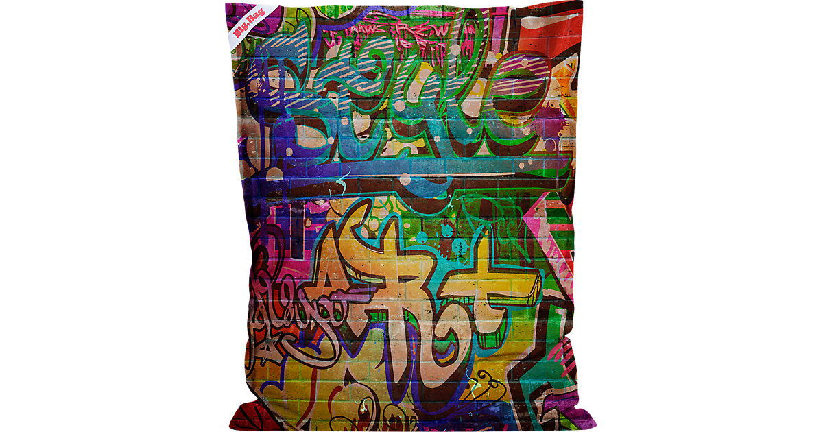 Sitting Point · Sitzsack BigBag GRAFFITI, 130 x 170 cm Gr. 130 x 170