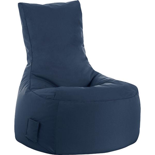 Sitzsack Swing Scuba Jeansblau Sitting Point Mytoys