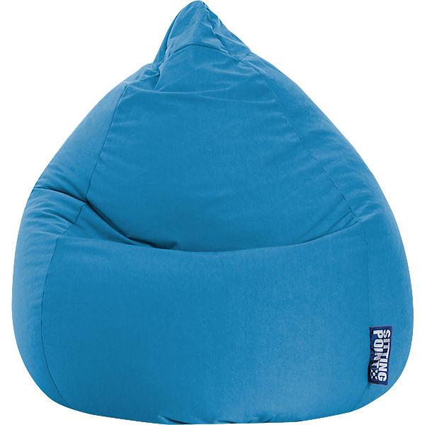 Sitzsack Beanbag Easy Xl 70 X 110 Cm Blau Sitting Point Mytoys