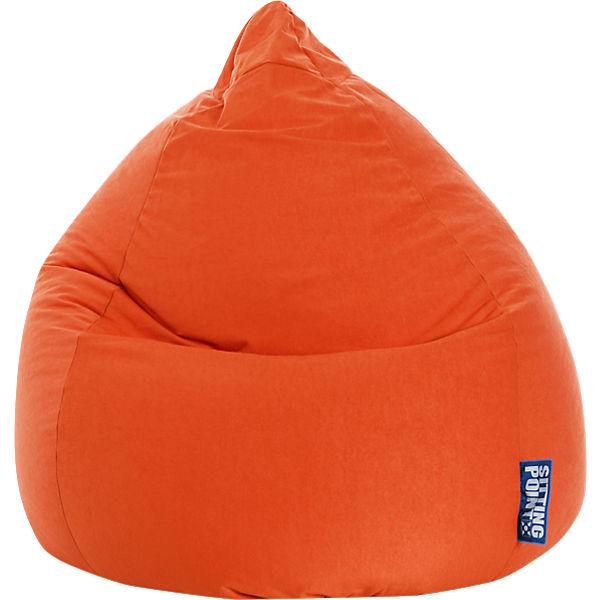 Sitzsack Beanbag Easy Xl 70 X 110 Cm Orange Sitting Point Mytoys