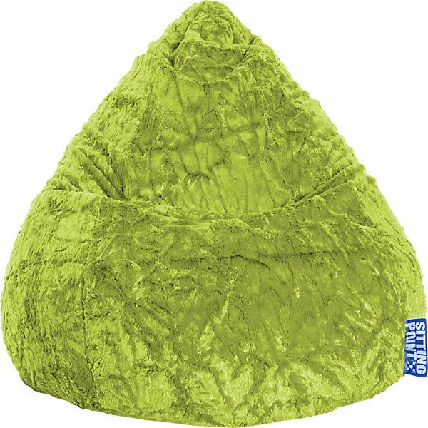 Sitzsack Beanbag Fluffy Xl 70 X 110 Cm Grün Sitting Point Mytoys
