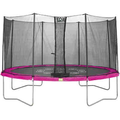 exit twist trampolin pink grau 366 cm exit mytoys. Black Bedroom Furniture Sets. Home Design Ideas