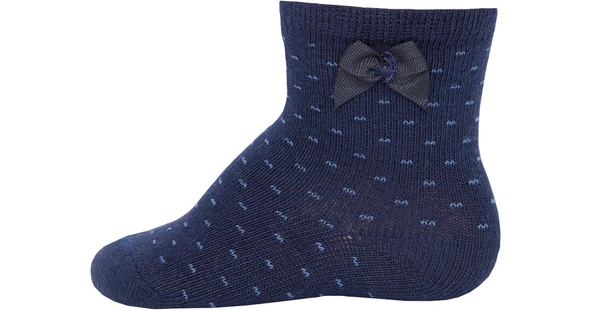 Baby Socken , Pünktchen dunkelblau Gr. 23-26 Mädchen Kleinkinder
